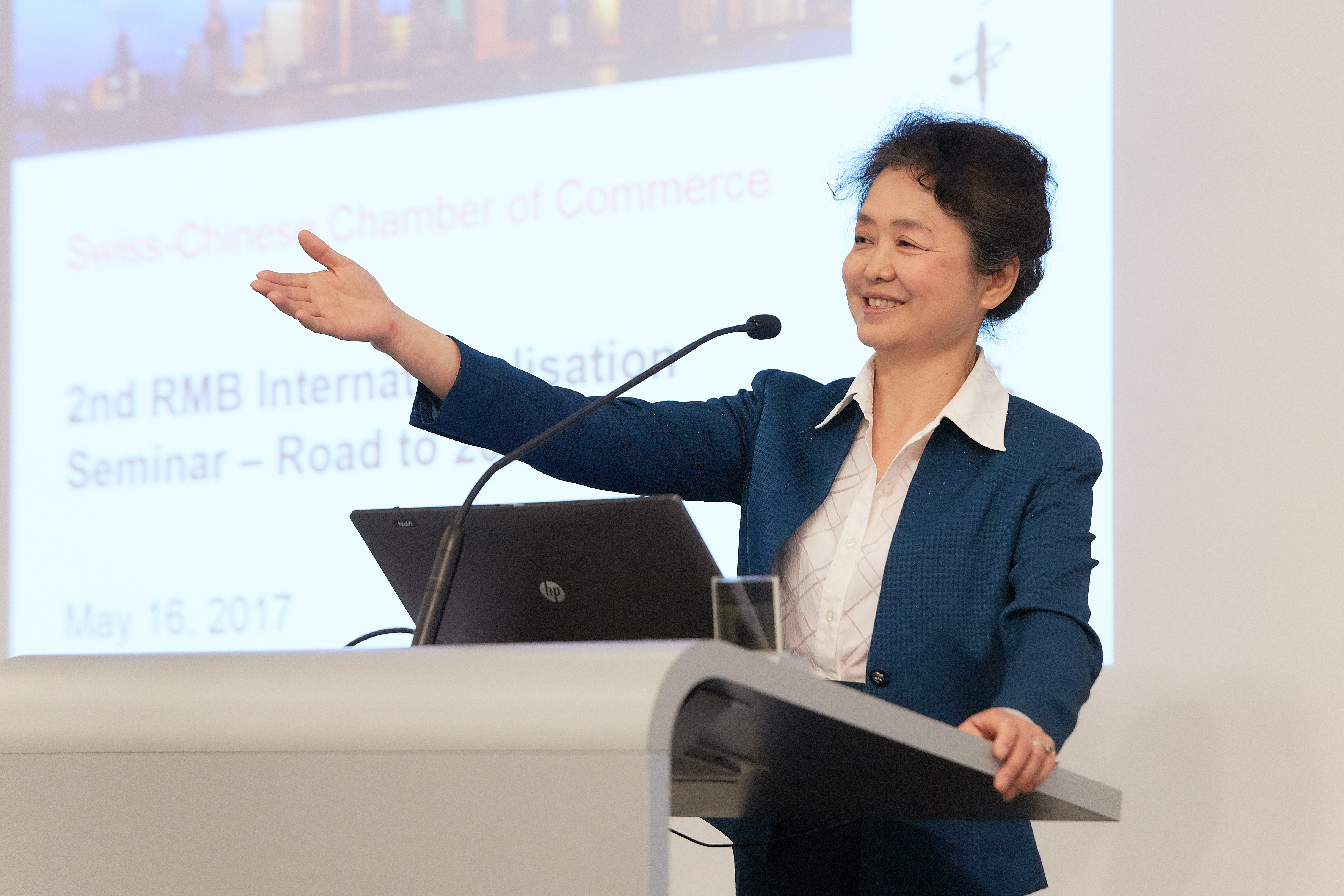 Official Welcome Address by Ms Ambassador GAO Consul General of PRC in Zurich and for Principality of Liechtenstein  RMB Internationalization – Road to 2020 is an Event of the Swiss-Chinese Chamber of Commerce www.sccc.ch  Foto: © 2017 by partners in GmbH · Stefan Weiss · www.partnersingmbh.ch